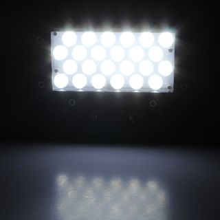 """8""""x5"""" Square Super Bright 24 LED 4x4 Truck Work Off Road Fog Lights Switch Wires"""