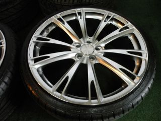"""New 22"""" Ace Aspire Wheels Silver Bentley Continental GT GTC Flying Spur Tires"""