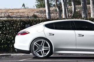 "22"" Roderick RW5 Silver Concave Wheels Rims Fits Porsche Panamera s 4S Turbo"