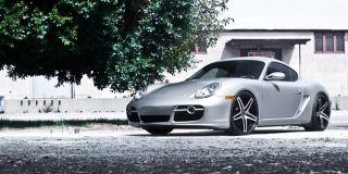 "22"" Roderick RW5 Wheels Black Porsche Cayenne Audi Q7 VW Touareg s GTS RW 5"