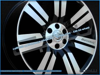 "New Cadillac Escalade 24"" inch Wheels Rims ESV Ext Black Machined Face Set of 4"