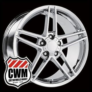 """18x8 5"""" 19x10"""" 2006 Corvette C6 Z06 Style Chrome Wheels Rims Fit C5 1999"""