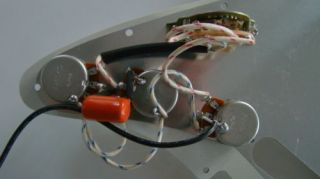 Stratocaster Guitar Pre Wired Wiring Harness with Orange Drop Pots Switch New