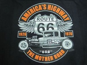 Hot Rod Rat Rod Route 66 5 Window Coupe Lowboy Mother Road Hoodie Black L to 4X