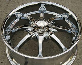 Helo 871 24 x 9 5 Chrome Rims Wheels Ford Crown Victoria 5H 15