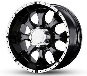 "16"" Helo Maxx Black Machined Rims Dodge Chevy Ford 2500 3500 F250 3 4 Ton Wheels"