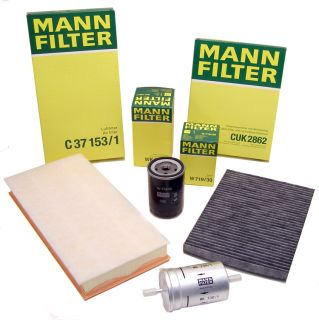 Complete Filter Service Set Air Oil Fuel Cabin Genuine Mann OEM Germany VW 2 0L