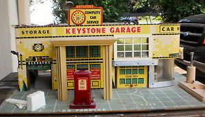 Vintage Keystone Garage Play Set Gas Pump Car Wash Service Station