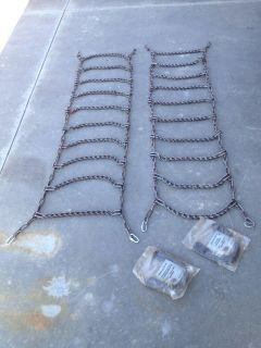 """Heavy Duty Tire Chains Snow Mud Truck Pickup 75""""L x 19""""w New"""