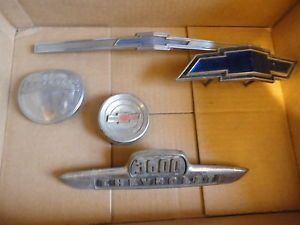 Vintage Lot Chevy Car Truck Hood Emblems