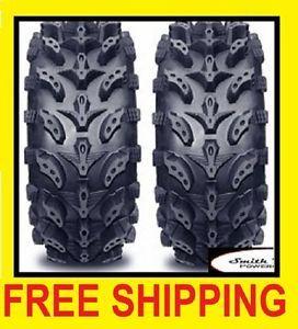 Pair 2 6 Ply 22x7 11 Interco Swamp Lite ATV Tires 22 7 11 Mud Tire 6 Ply