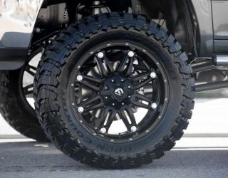 """22"""" inch Fuel Hostage Black Off Road Wheel Tire Package"""