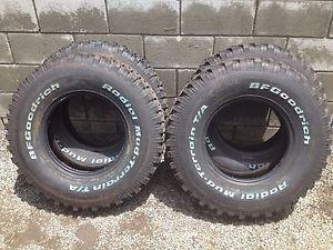 Four New LT235 85 16 BF Goodrich BFG Mud Terrain T A 85R R16 Tires