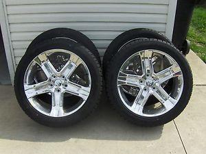 "2012 Dodge RAM R T Sport 22"" Chrome Wheel Tire Package Dealer Take Offs 0 Miles"