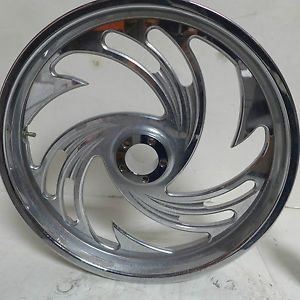 "Arlen Ness Chrome Spinner Wheel 21""x 3 5"" for Harley Davidson"