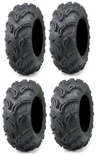 Full Set of Maxxis Zilla 30x9 14 and 30x11 14 ATV Mud Tires 4