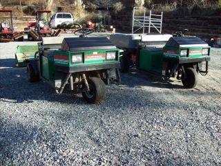 2 Cushman Turf Truckster Gas Engine Utility Cart Golf Gator Hydraulic Dump Bed