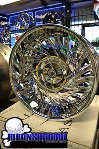 "22"" asanti Biscayne All Chrome Wheels Rims BMW 7 Series 745 750 Staggered 5x120"