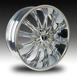 "24"" Chrome Bentchi B15 Rims Wheel Tire Dodge RAM Navigator Durango 22 Free SHIP"