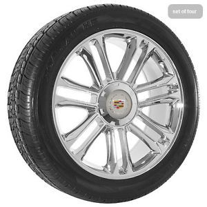 "20"" inch Cadillac Escalade Platinum Edition Chrome Wheels Rims and Tires"