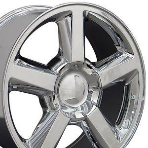 "Set of 4 22"" Chevrolet Tahoe 5 Spoke Replica Chrome Alloy Wheels Rims 22x9"