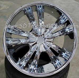 """New 22"""" Armano A501 Chrome Wheels Chevy Ford Expedition F150 Navigator 24 Rims"""