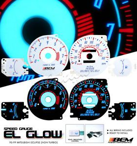 95 96 97 98 99 Mitsubishi Eclipse GS RS El Glow Gauge Face Kit Auto Transmission