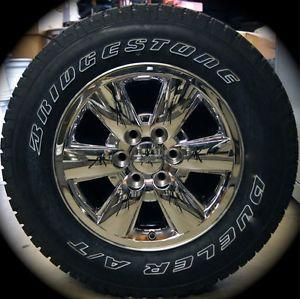 "New GMC Sierra Yukon Chrome 18"" Wheels Rims Tires Chevy Silverado Suburban Tahoe"