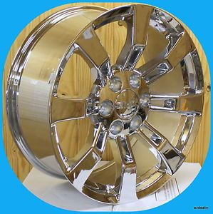 "New Set of 20"" Chrome Escalade Wheels for GMC Sierra Denali Yukon 20 in Rims"