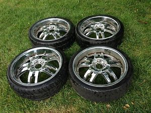 Starr Dominator 958 20'' 20 inch Rims Wheels Tires Package Chrome Beautiful