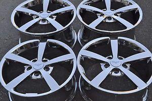 "18"" 19"" Corvette PVD Chrome Wheels Rims 2008 2009 2010 5339 5344"