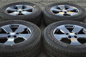 "Jeep Grand Cherokee 18"" Black Chrome Wheels Rims Tires"