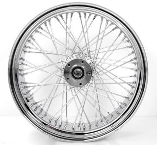 Chrome Wheels 60 Spokes 250 Wide Front Rear Set Fits Custom Harley Motorcycle