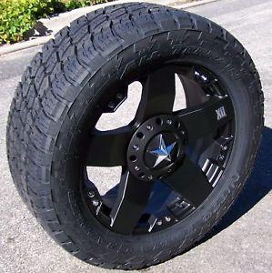 "20"" Rockstar Wheels Nitto Terra Grappler Tires 8 Lug Dodge RAM 2500 GMC Sierra"