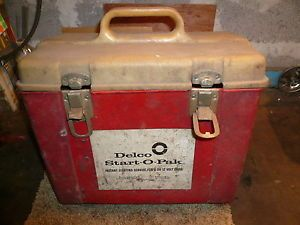 Vintage Delco Start 0 Pak Instant Car Starter Battery Booster 6 12 Volt