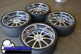 "22"" asanti AF 130 Multipiece Chrome Staggered Wheels Rims BMW 7 Series 745 750"