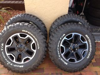 Jeep Factory Tires and Rims Mud Terrain Lt 265 70 17 BF Goodrich Set of 4