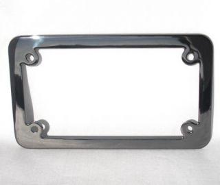 Black Chrome Motorcycle License Plate Frame 4 Impaler Spike Lic Fastener Bolts