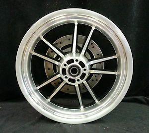 Harley Davidson Dyna 10 Spoke Wheel Cast Aluminum Black Rear Rim 17x4 5