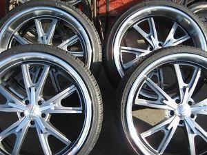 "22"" American Racing VN801 Wheels Rims Tires Ford Mustang"