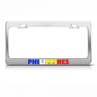 Philippines Flag Country Metal License Plate Frame Tag Holder