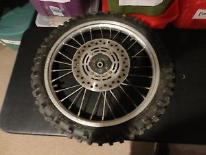 Honda CR 80cc Dunlop 1997 Dirt Bike Front Wheel Dunlop Tire Rim Hub