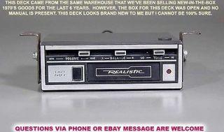 Vintage Realistic 12 180 3A Car Auto Under Dash Stereo Cassette Player Deck