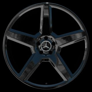 """New 22"""" inch Gloss Black Wheels Rims Mercedes Benz AMG Style CL550 S550 S600"""