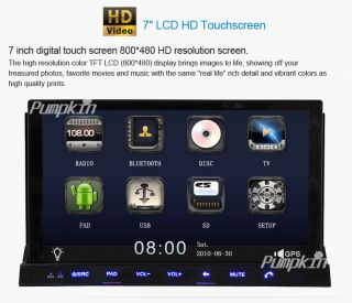 """Capacitive Android 4 0 7"""" 2 DIN in Dash Car DVD Radio Stereo Player GPS Tablet"""