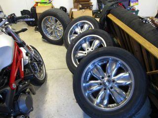 "20"" American Racing Chevy GMC Truck Wheels Tires 6 Lug"