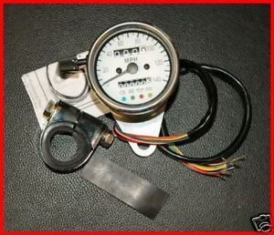4 Lite White Face 2240 60 Mini Speedometer Speedo Harley Chopper Bobber Custom