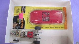 1 24 Monogram Vintage Slot Car Parts Chaparral Ferrari 275P Frame Motor