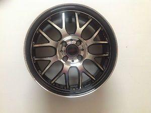 """ASA AR3 17"""" Black Machined Lip Wheel Single 17x7 4x108 4x4 25 45mm AR17R42BMBF"""