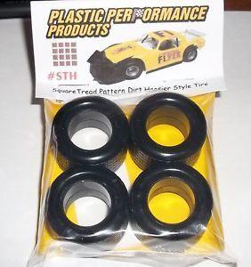 NASCAR 1 25 Hoosier Tires Square Tread Dirt Set Stock Car Model Parts